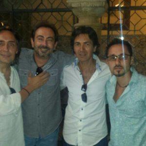 foto con Jose, Vicente y Niño de Pura